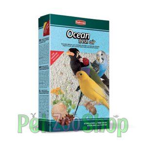 Ocean Fresh Air je higijenski pesak za ptice sa drobljenim školjkama ostriga i mirisom anisa.